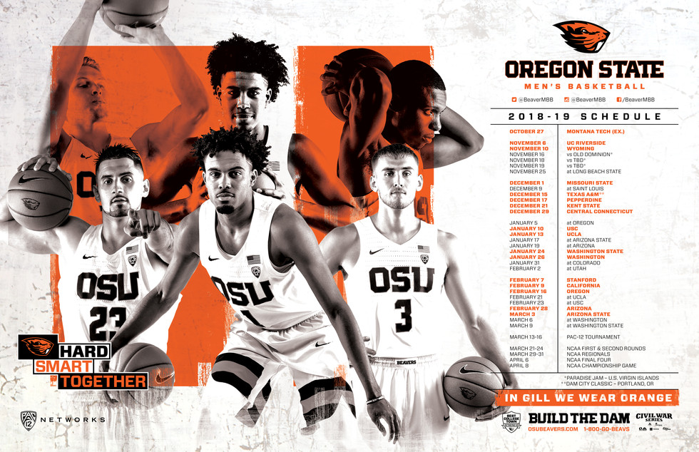 2018-2018 Men's Basketball Season Poster