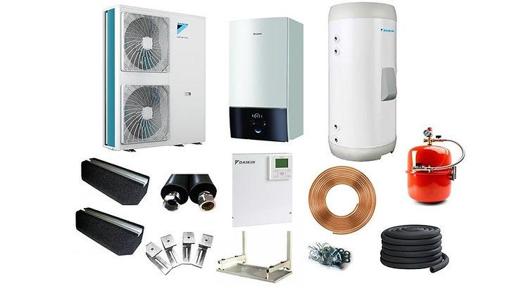 Daikin heat pump pic with accessories 1.