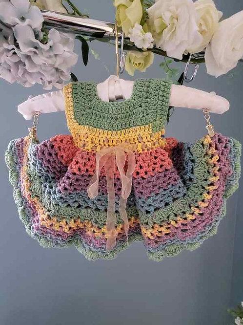 Rainbow Cotton Baby Dress