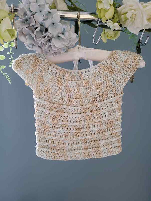 Cream Short Sleeve Baby Sweater