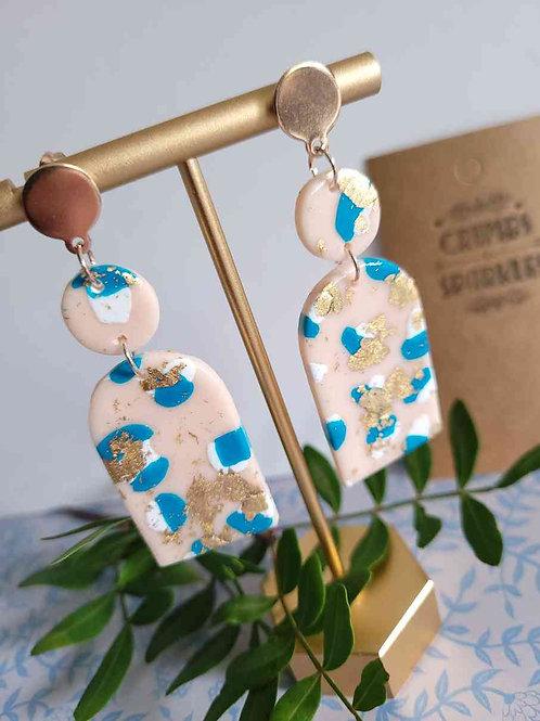 Emma Arch Dangle Earrings, Polymer Clay Earrings, Handmade Earrings