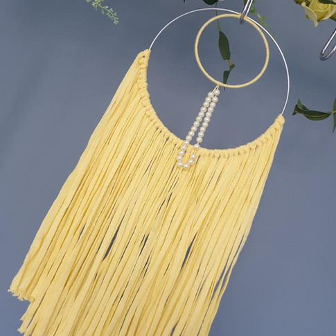 Yellow Fringed Wall Hanging