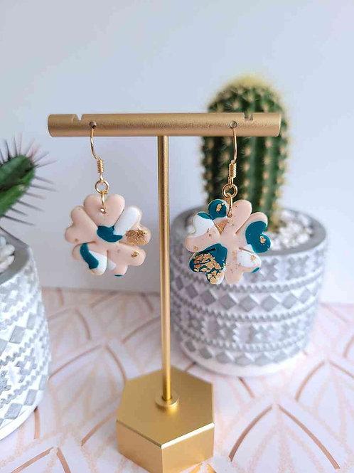 For Leaf Clover Earrings, Polymer Clay Earrings, Drop Earrings