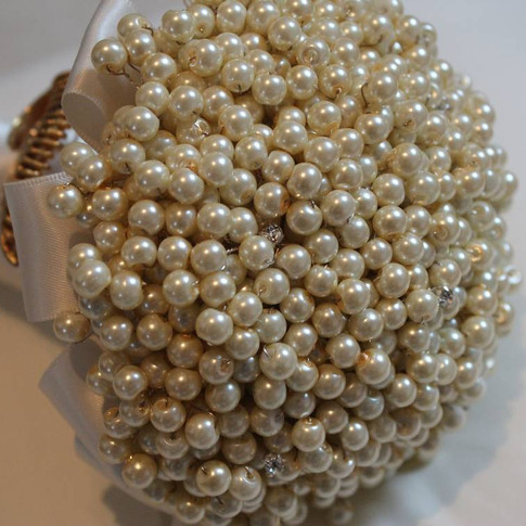 Ivory Beaded Bouquet