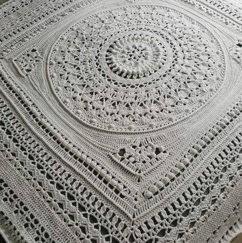 White Mandala Blanket