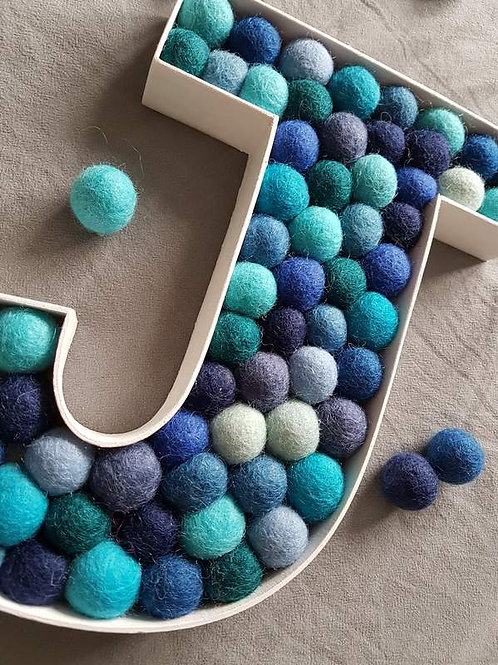 Giant Felt Ball Letters (made to order)