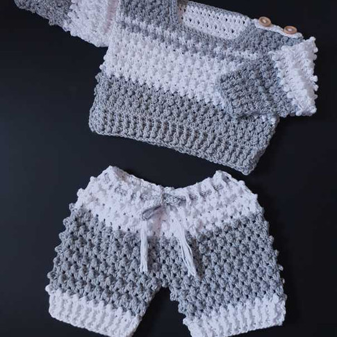 Crochet Baby Sweater & Matching Joggers