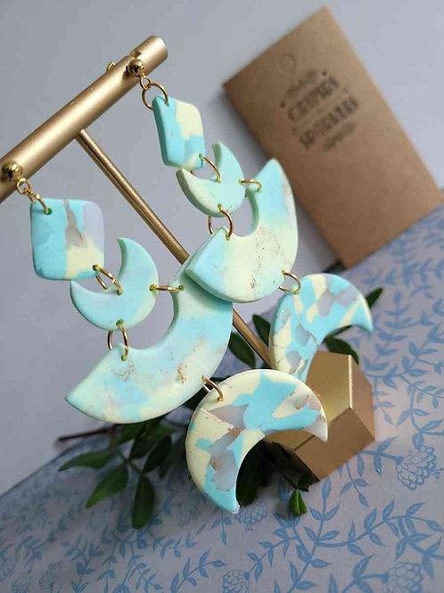 Etta Summer Moon Statement Earrings, Handmade Earrings