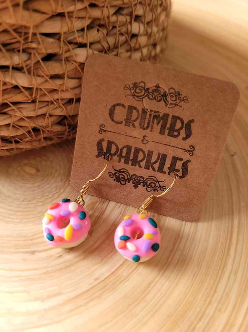 Polymer Clay Doughnut Fun Novelty Earrings