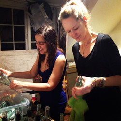 Prepping the bottles