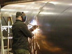 Welding on a Stack Liner