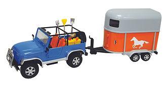 Saddle Pals Jeep with Horse Box - BTG Dubai Toy Distributor