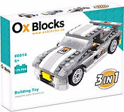 Ox Blocks 814 - 3 in 1 Car - USA Brand similar to lego