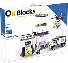 Ox Blocks 301 Police HQ - USA Brand similar to Lego