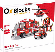 Ox Blocks 310 - Fire Engine set - USA Brand similar to lego - Dubai