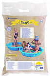 Sterile bag of sand for sandpit