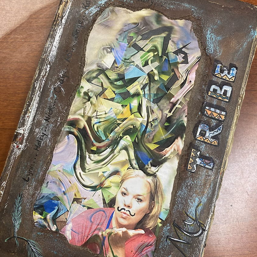 book cover upcycle