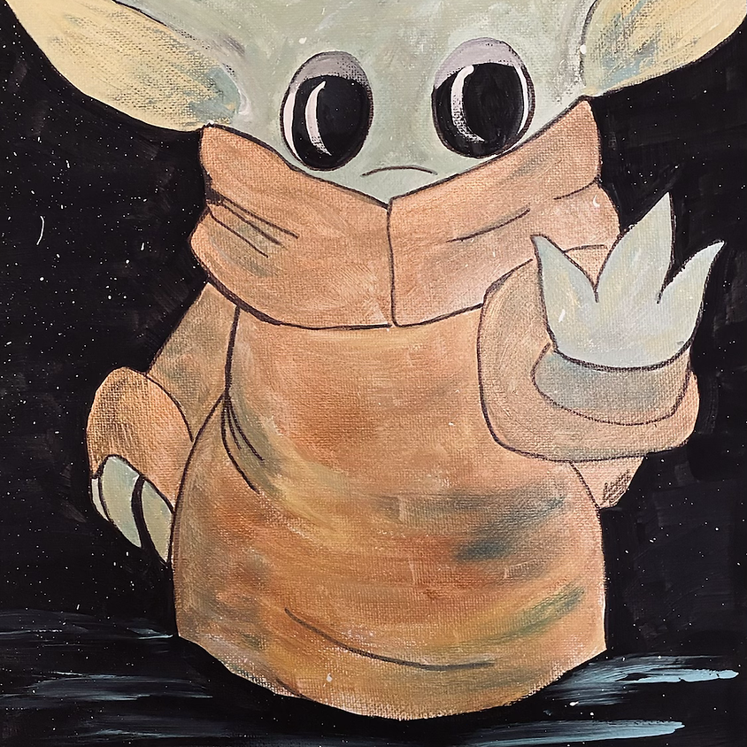 Star Wars inspired canvas (ages 4 and up)