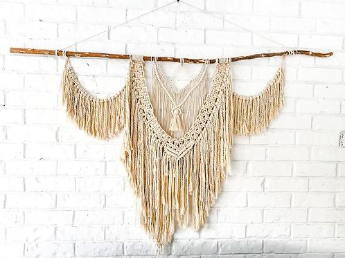 Handwoven  macrame wall hanging