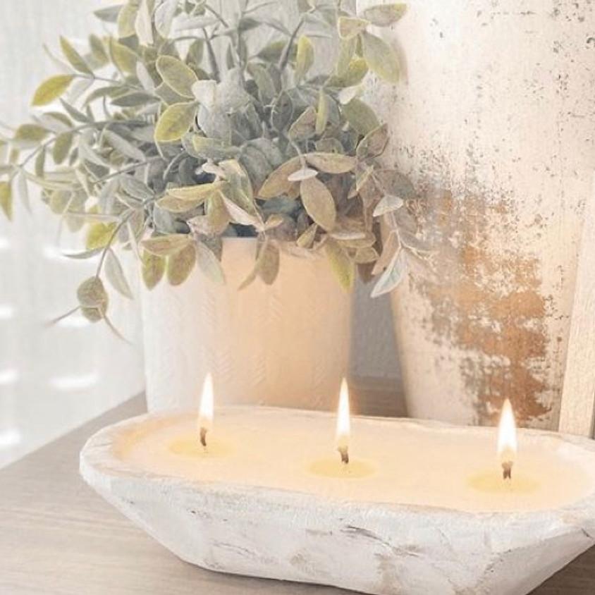 Dough bowl candles
