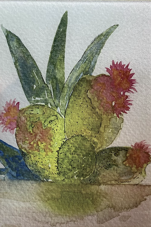 Small cactus cutting board