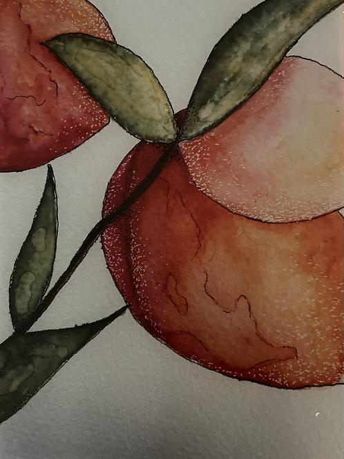 Custom watercolor design cutting board