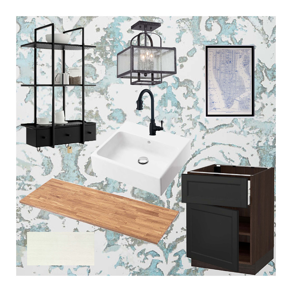 Mood board for Laundry Room Reno