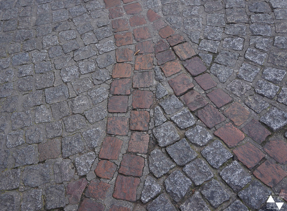 Patterned cobblestones at Picasso Museum