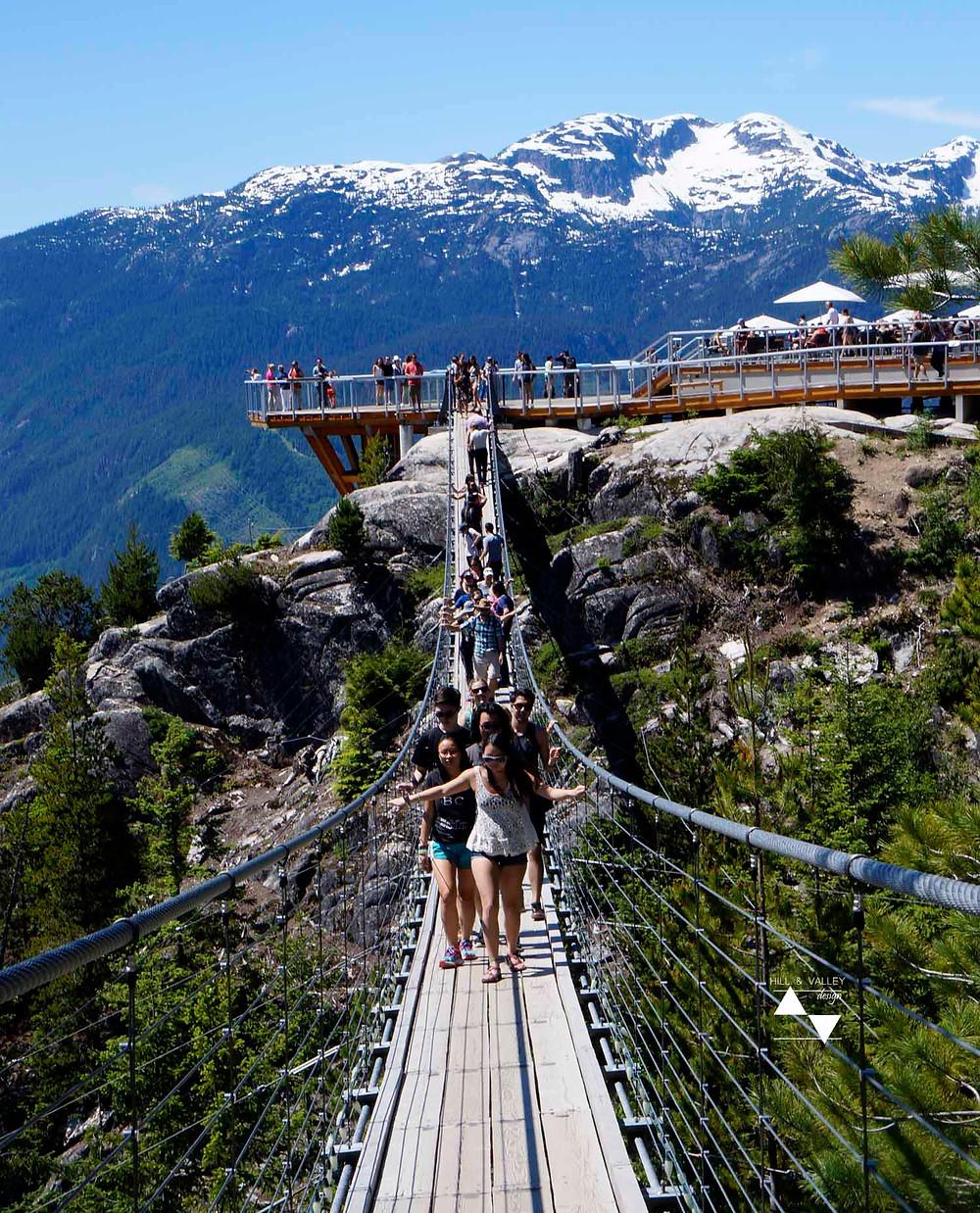 Suspension bridge at sea to sky goldona, Squamish