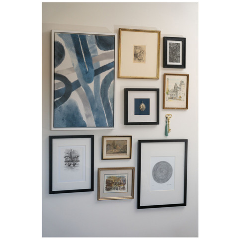 master suite - gallery wall