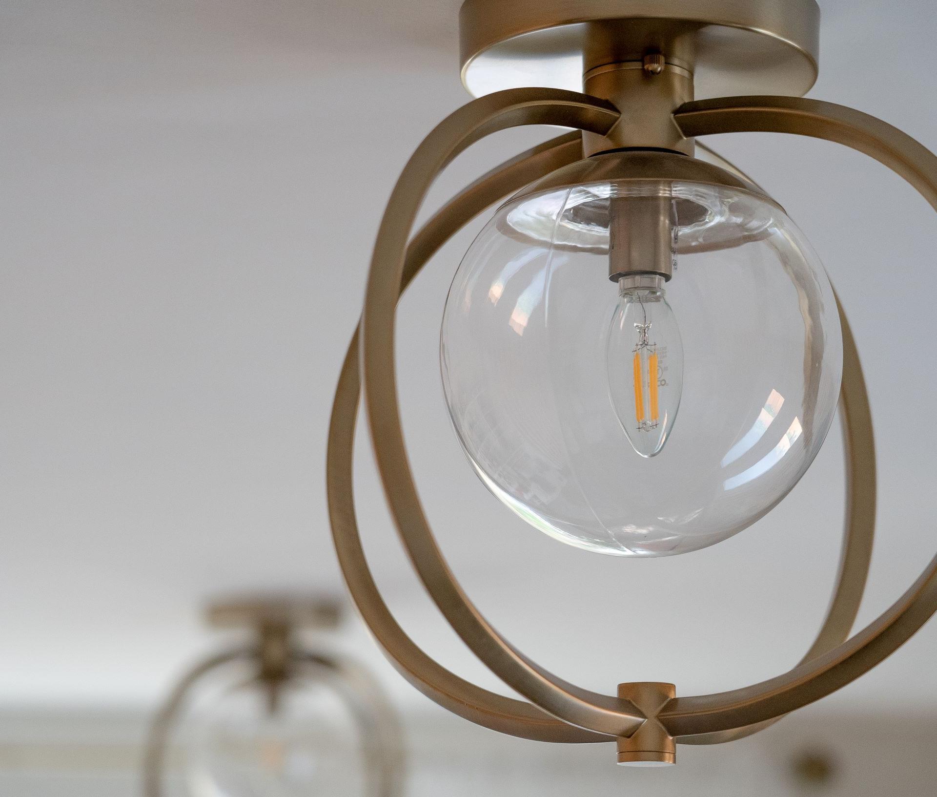 matte brass ceiling lights