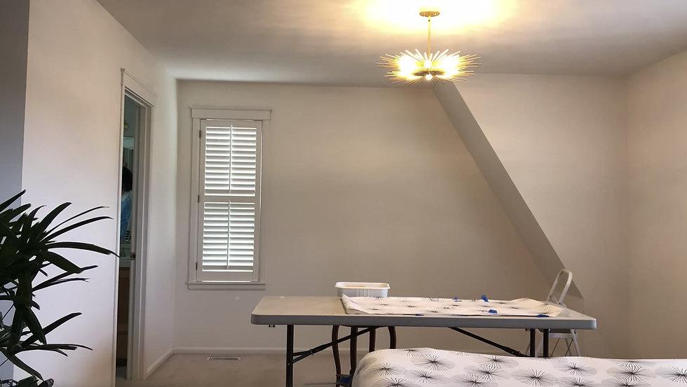 time-lapse of hanging wallpaper
