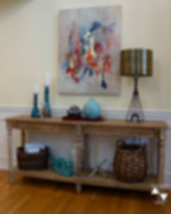 foyer with styled console table