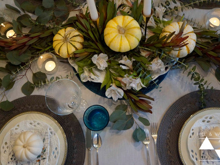 Setting a Thanksgiving Table
