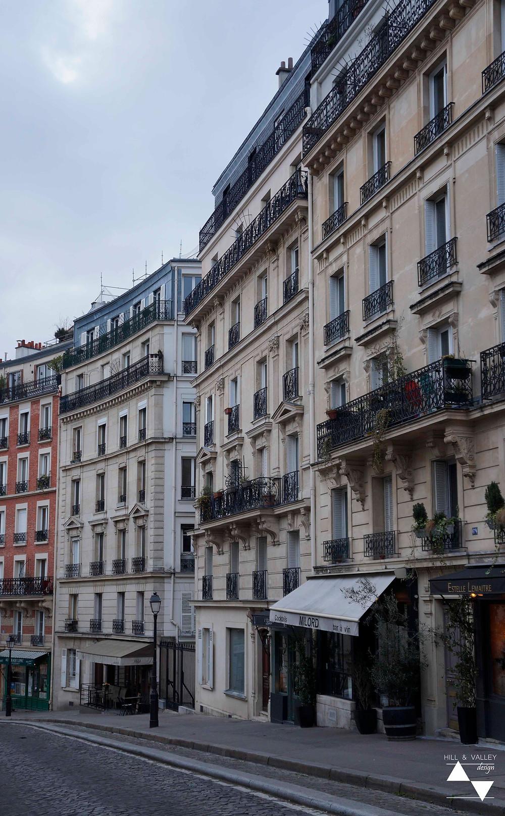 a cobblestone street in Montmartre