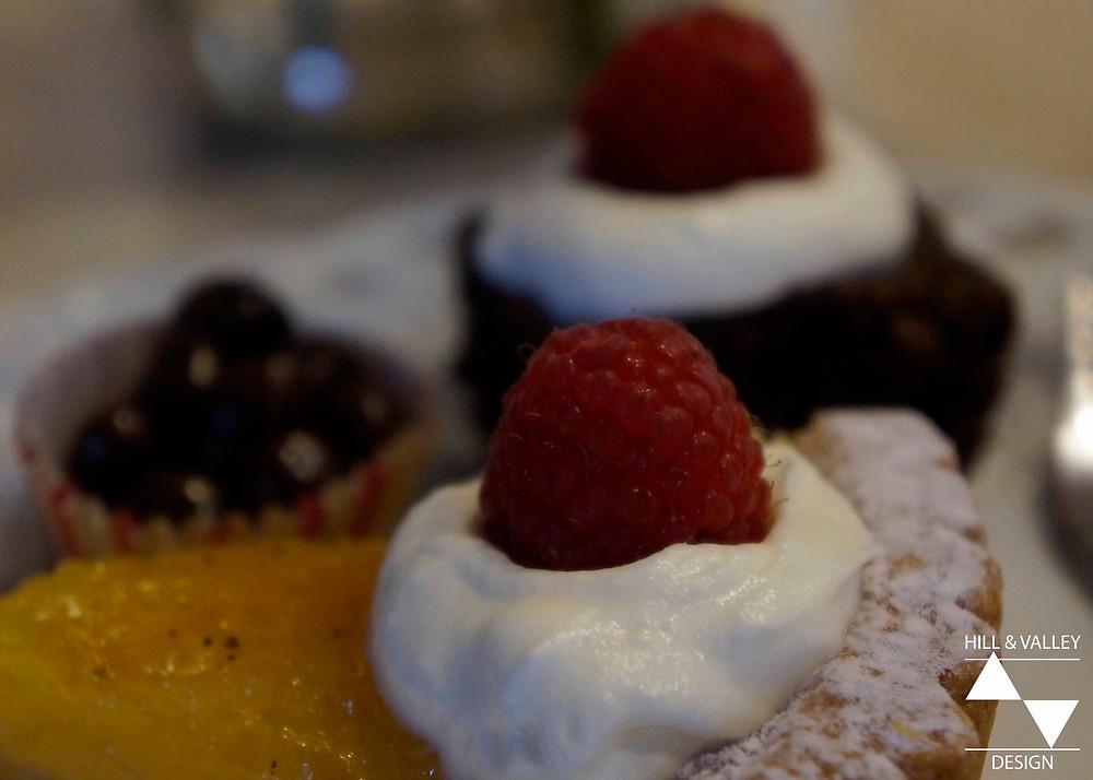 Dessert plate close-up