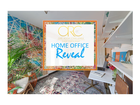 One Room Challenge - Home Office REVEAL