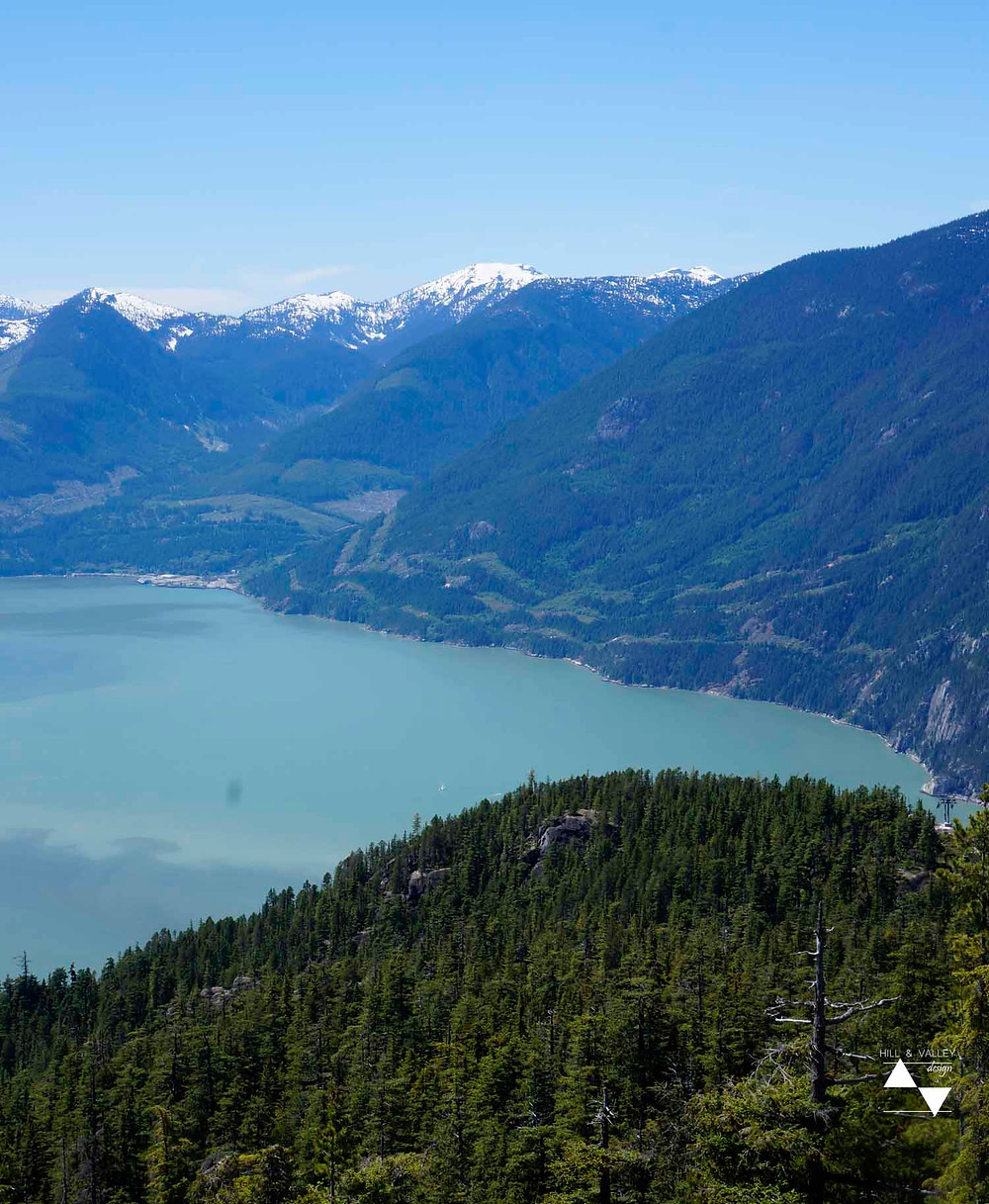 view of Howe sound - from Summit Lodge
