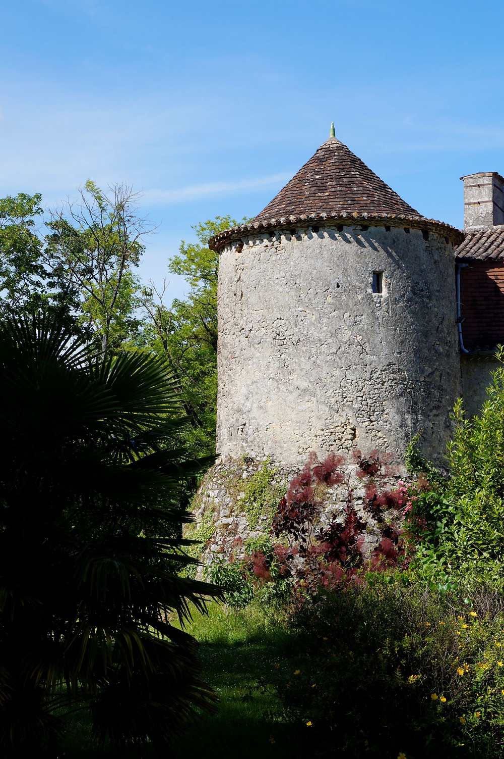 This 13th century turret is part of a working chateau