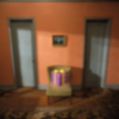 Bruce Charlesworth-Gift (triptych center)-1995-from Death Ray series-color photograph