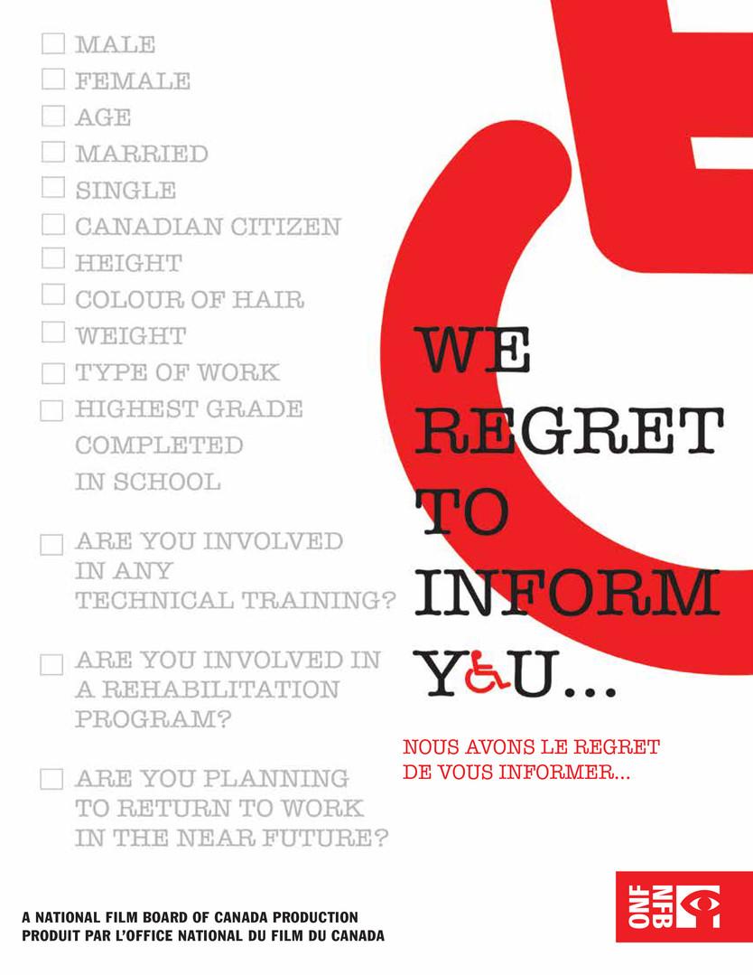We Regret to Inform You...
