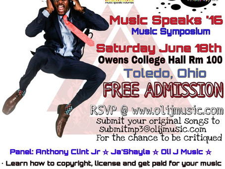 Music Speaks '16: Music Symposium in Toledo, OH