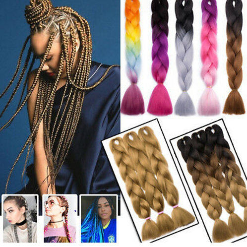 Ombre Braiding hair X-pression Hair  Extensions Jumbo Braids Natural 3 bundle