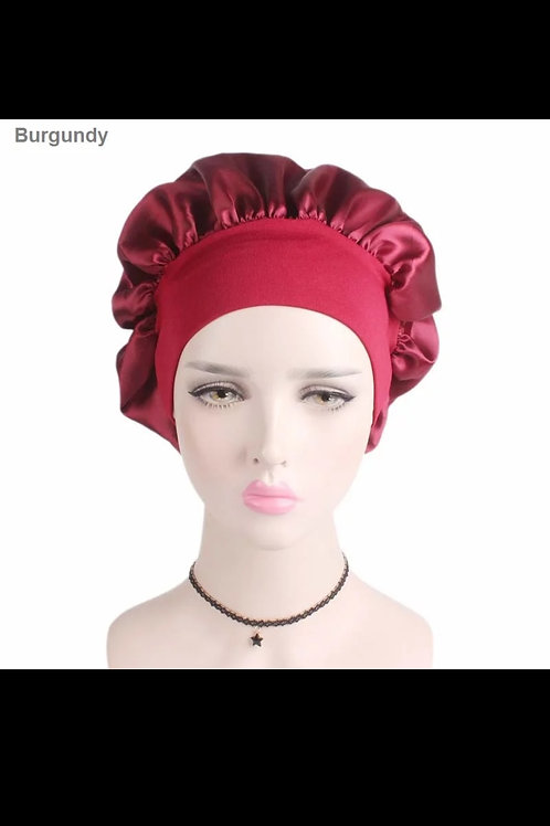 Accessories Wide Adjust Woman Satin Bnnet Solid Sleeping Hat