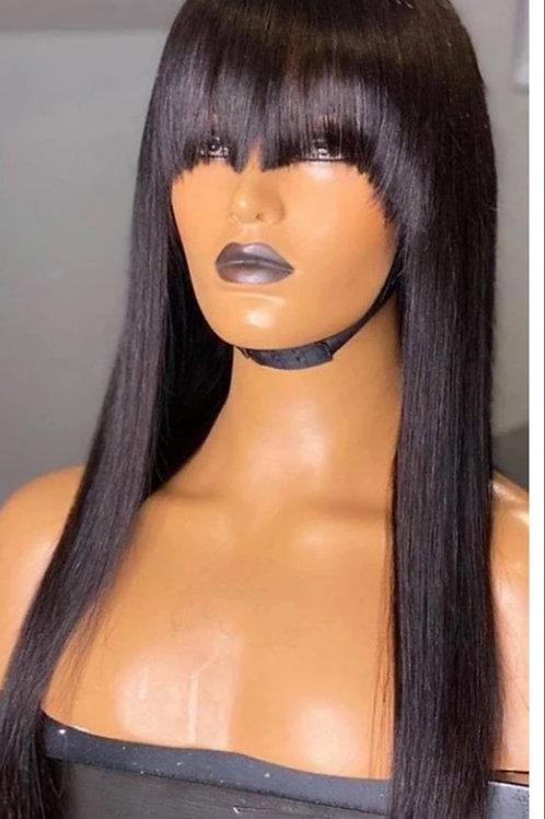 Full Head Fringe Wig 22inch