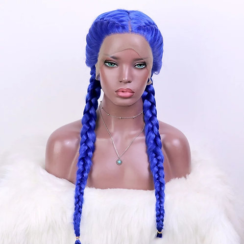 Cluadia 26inch Hand braided Synthetic Lace Front Cornrow