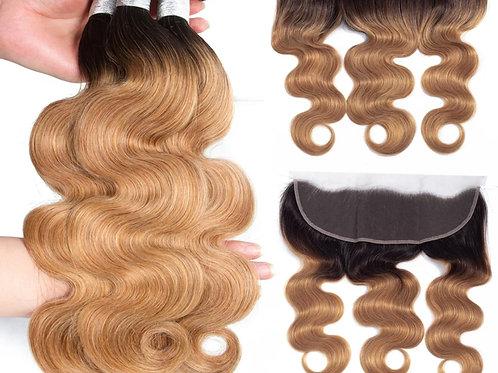 Lisa - Honey blonde bundle 18, 20, 20 and closure 18inch