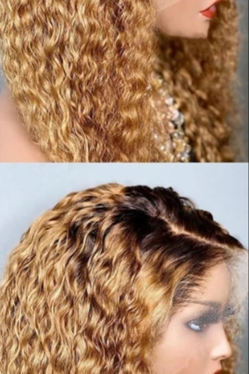 Honey - blonde Tisha deep curly 22inch with closure