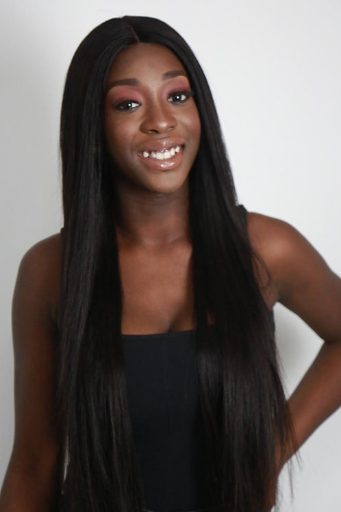 Straight wig Russian hair 3 bundle 26, and 20inch closure