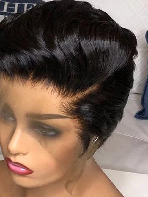 Pixie Cut Bob Lace Front Human Hair Wig